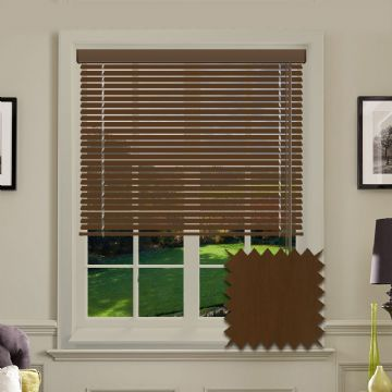 Chesnut Wood Look Aluminium venetian blind